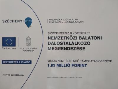 XXXVII. Nemzetközi Balatoni Dalostalálkozó 2019.10.19-én.